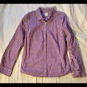 J Crew gingham The Perfect Shirt, 10